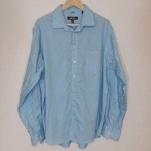 Kennith Cole Checked Button-Up XL 17-17.5